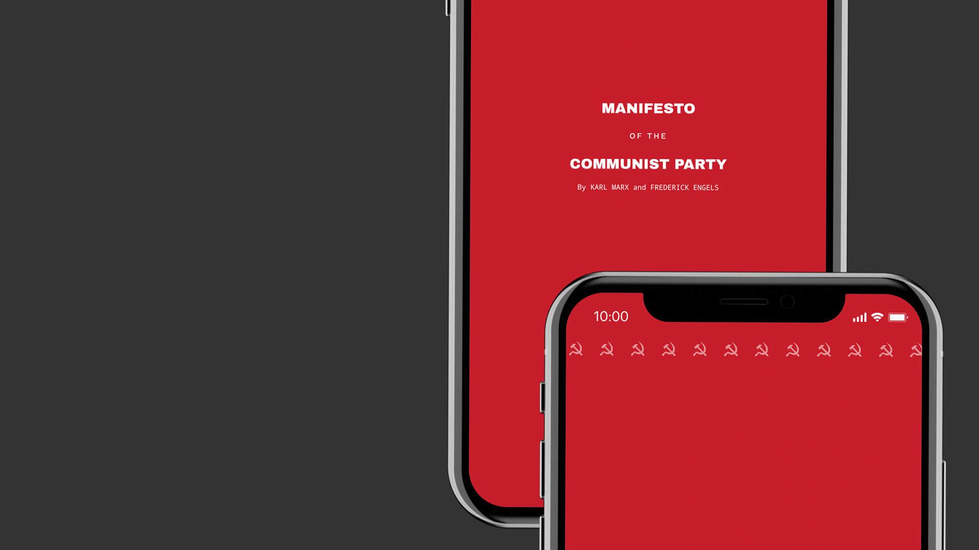 The Communist Manifesto — but make it fancy.